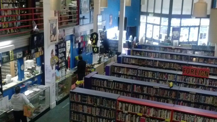 Scarecrow Video  in Seattle is something of an institution. They've got more than 120,000 movies in formats like VHS, laserdisc, DVD, Blue-ray and more.