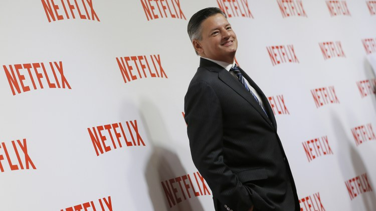 Ted Sarandos, the co-CEO and chief content officer of Netflix, has been with the company since 2000, back when the streaming behemoth was sending folks DVDs in red envelopes.
