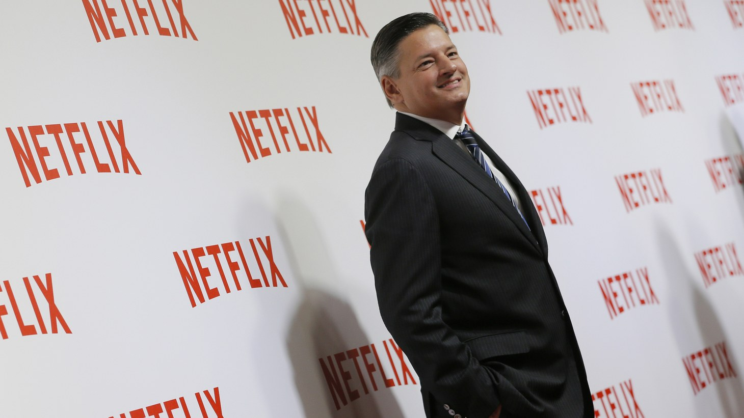 Netflix Co-CEO Ted Sarandos attends a red carpet event in Paris as the company launches its video streaming service in France, September 15, 2014.