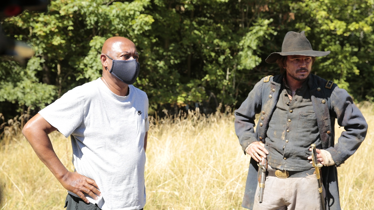 """Director Raoul Peck and Josh Hartnett in """"Exterminate All the Brutes."""""""