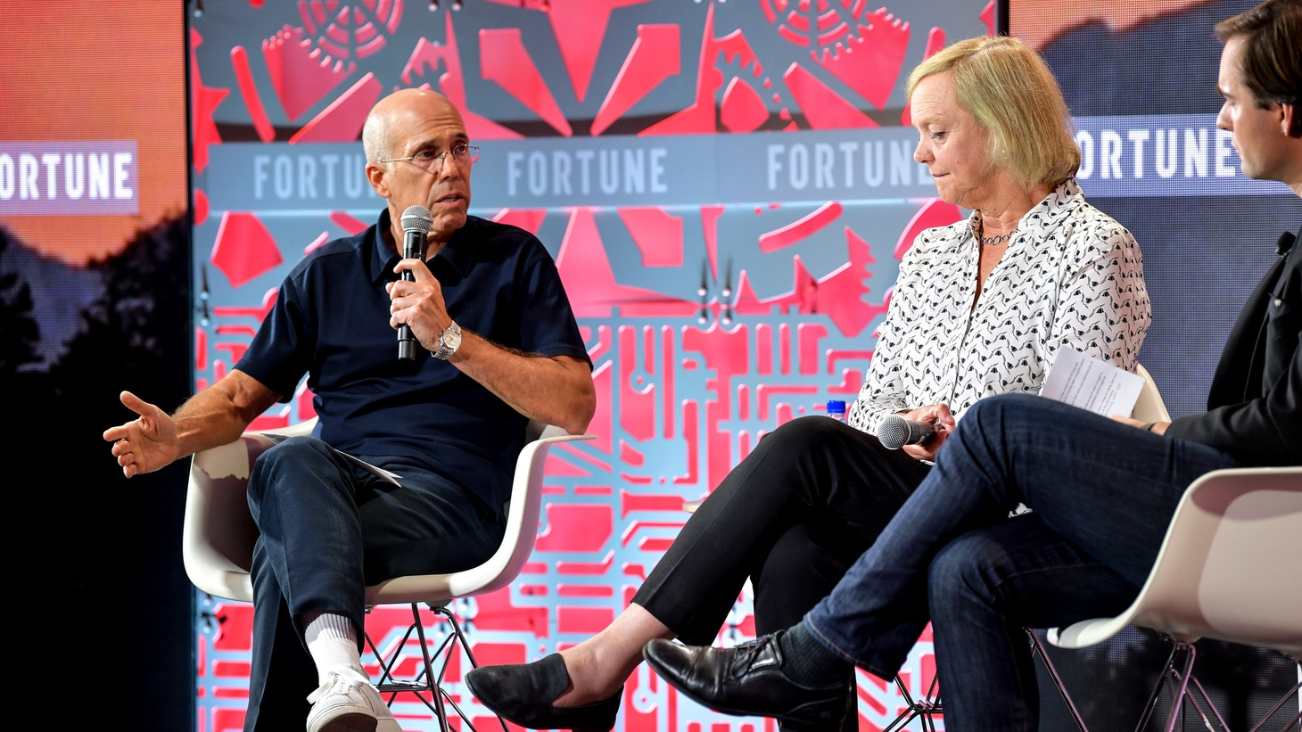 Jeffrey Katzenberg (left) and Meg Whitman (right) launched Quibi in April, but the company has experienced public troubles since then.
