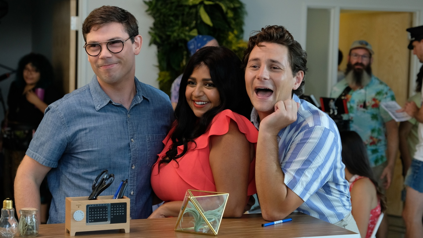 Ryan O'Connell, Punam Patel and Augustus Prew in the Netflix series 'Special.'