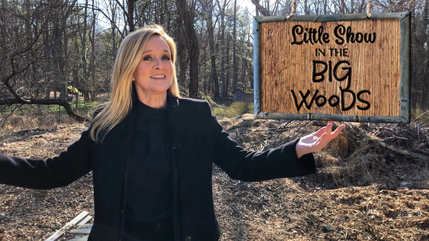 """Samantha Bee is now hosting her late-night show """"Full Frontal"""" from the woods outside her house."""