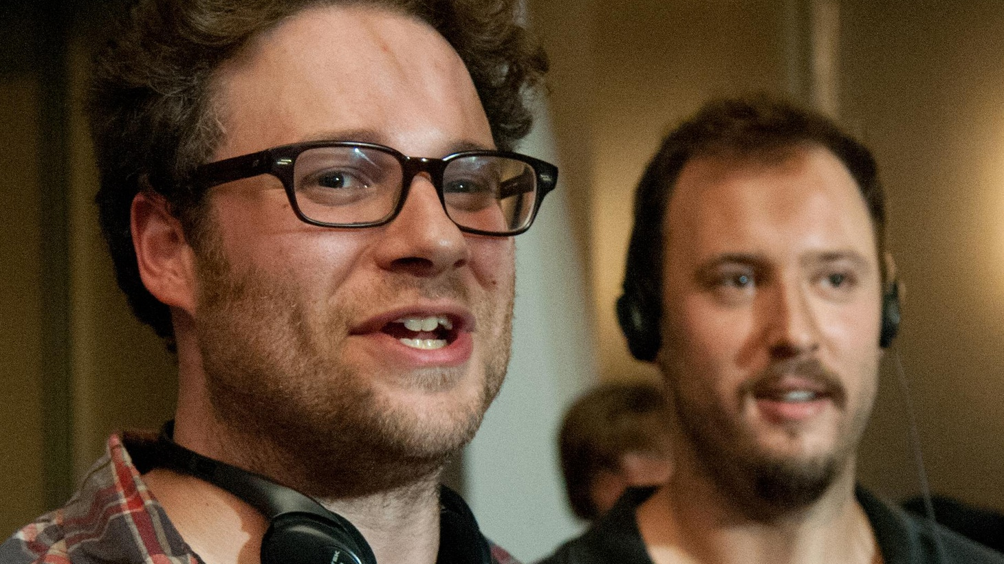 """Long time collaborators Seth Rogen and Evan Goldberg talk with John Horn about making their directorial debut, """"This Is the End."""""""