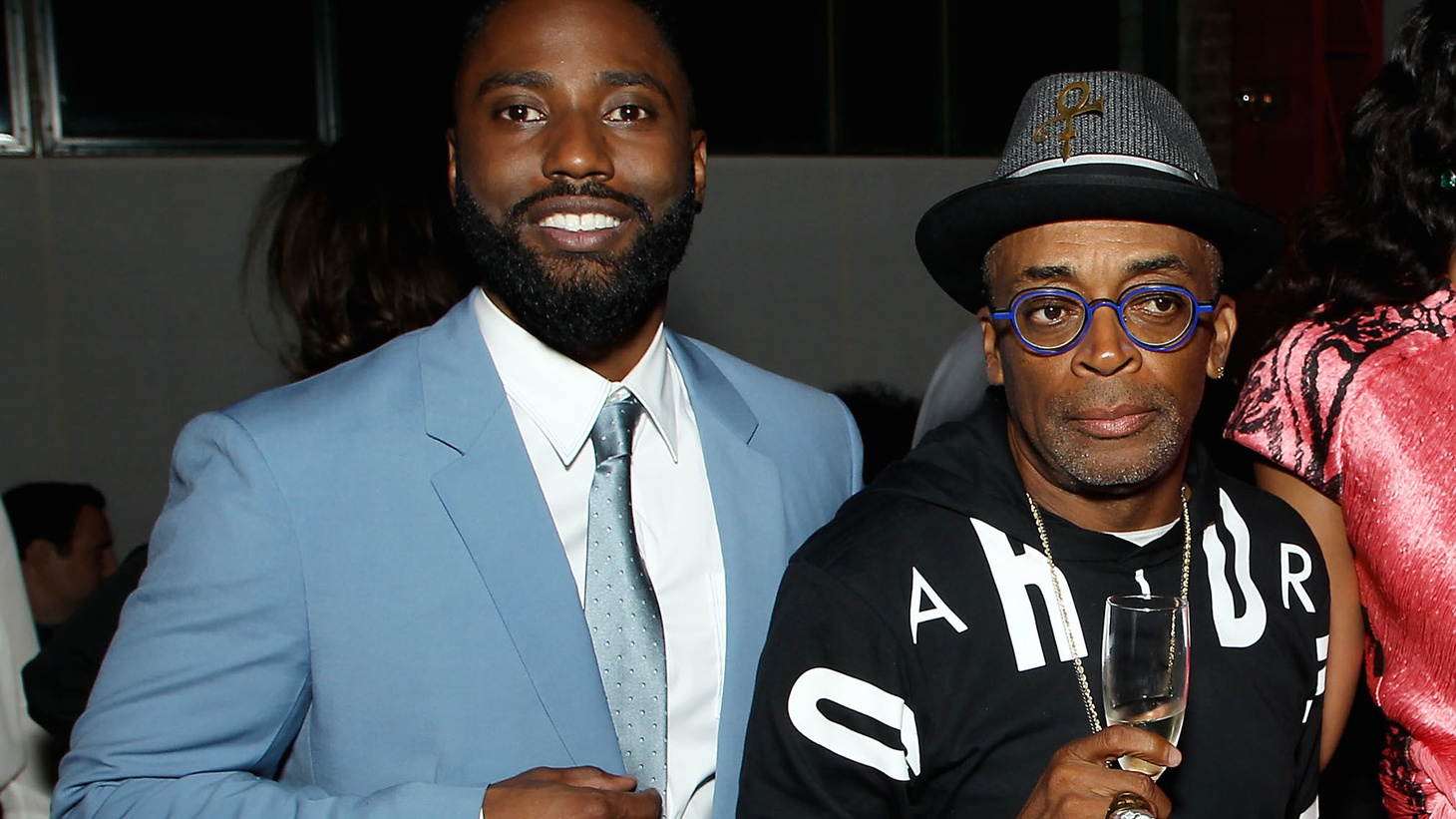 John David Washington and Spike Lee