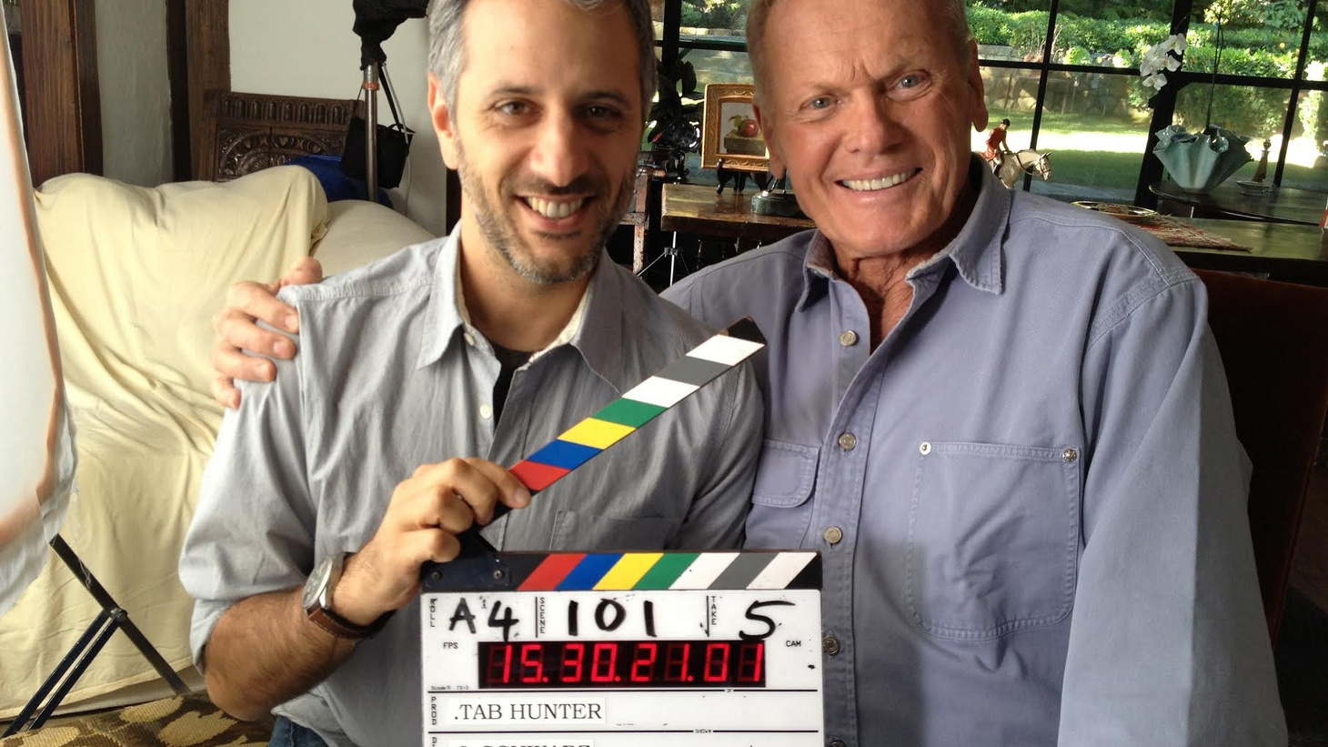Tab Hunter was the ultimate 1950's Hollywood heartthrob. Blond hair, blue eyes, stunning smile...and also gay. The multifaceted star, now nearly 84, tells his story in the new documentary Tab Hunter Confidential, directed by Jeffrey Schwarz.