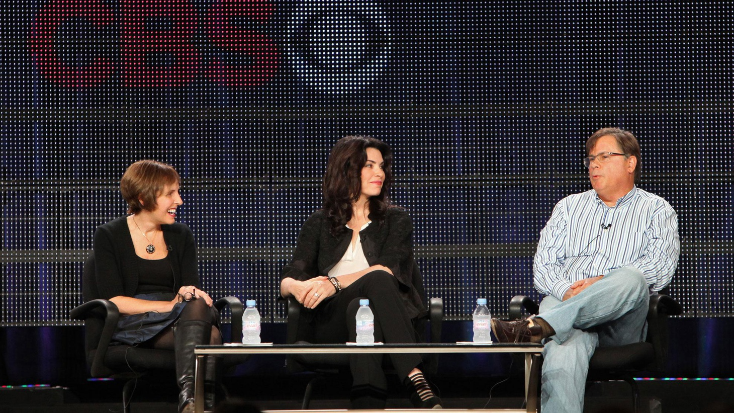 Robert and Michelle King say that having The Good Wife, presented to advertisers at the upfronts is like being at an insurance salesmen convention, but with great jokes...