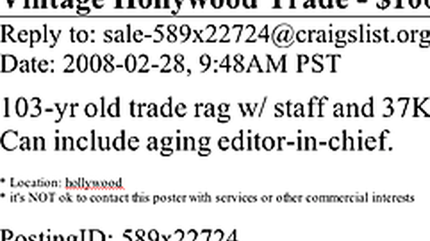 The venerable Hollywood trade paper, Variety, is up for sale. What will a new owner mean to the business? We'll have a lively conversation with blogger extraordinaire Nikki Finke and PR veteran Howard Bragman. Plus, which Oscar prognosticators predicted with paramount precision?