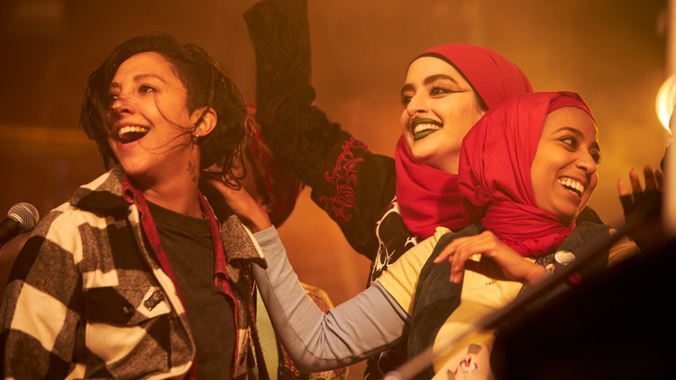 """Writer Nida Manzoor wanted """"We Are Lady Parts,"""" her series about an all-female Muslim punk band, to be funny."""