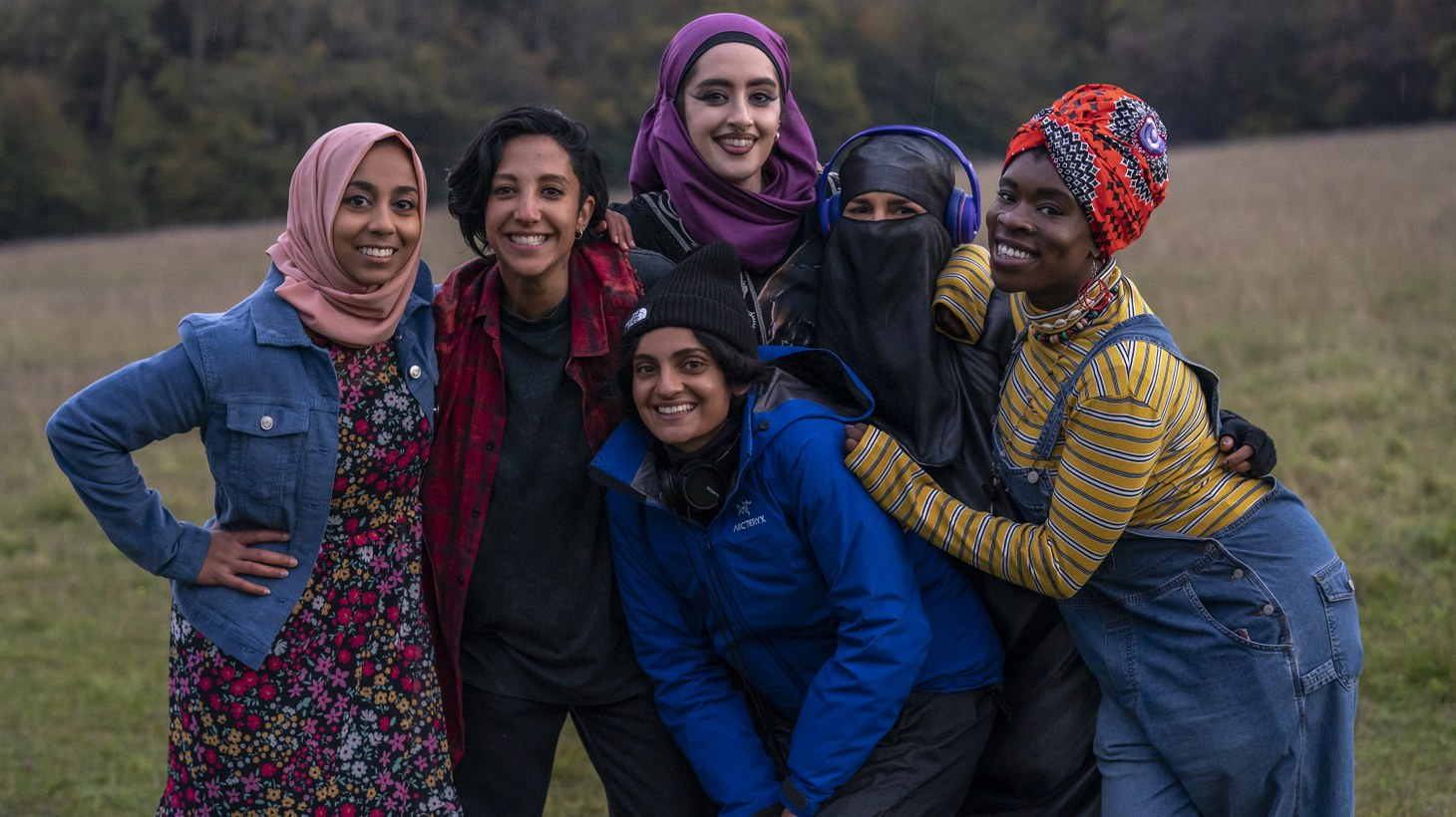 """Nida Manzoor, center, with the cast of """"We Are Lady Parts."""""""