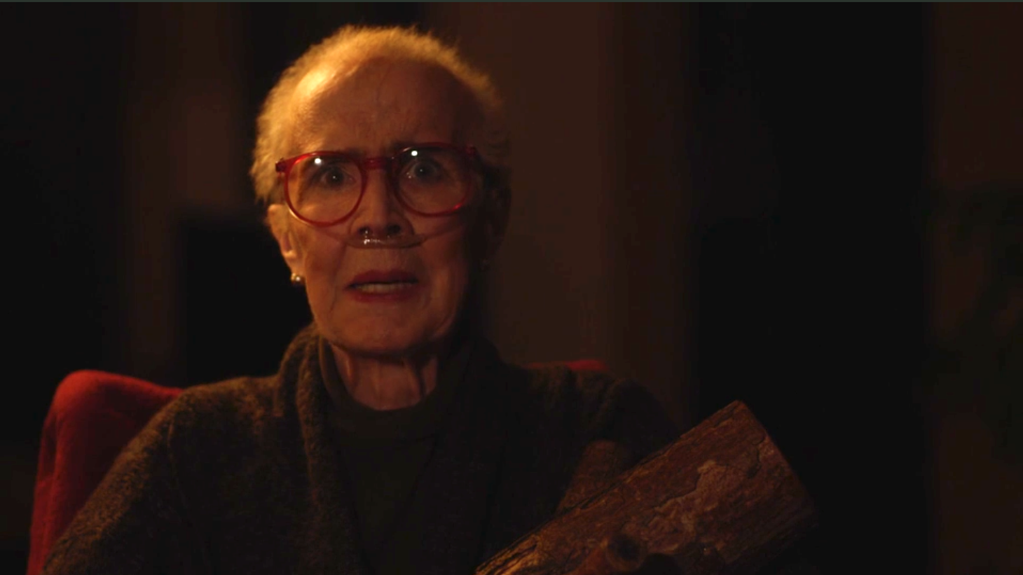 "The late Catherine Coulson as ""the Log Lady."""