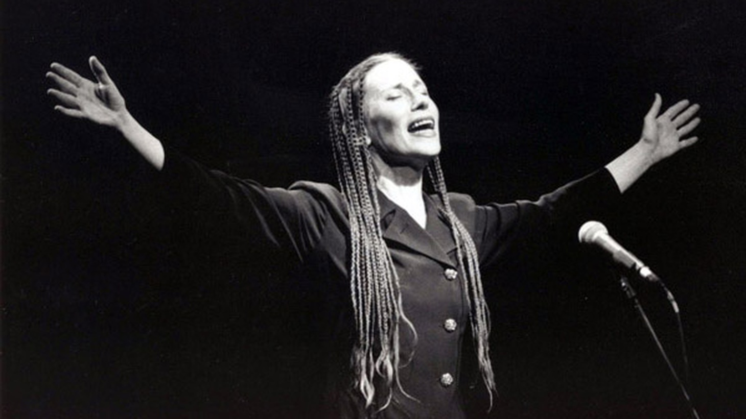 An interview with composer and singer Meredith Monk, with clips of music from her entire career.