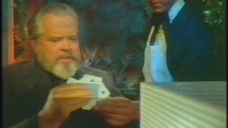 Orson Welles's final years appear dark: earning money by making the rounds on talk shows and starring in wine commercials.