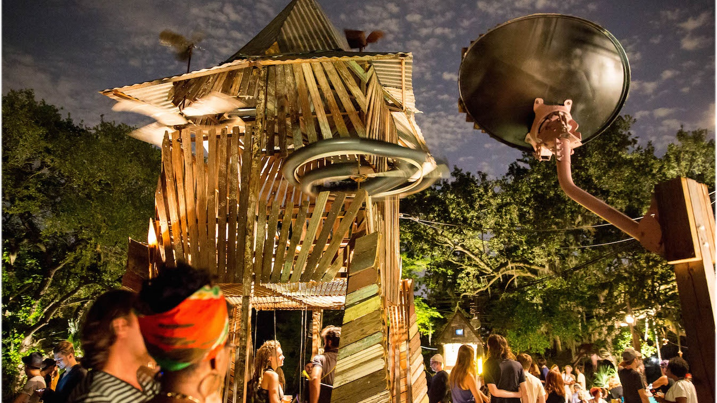 In houses that double as musical instruments, Solange Knowles, Will Oldham, and five-year-old children perform on sonic architecture that reflects the raucous acoustics of life in New Orleans.