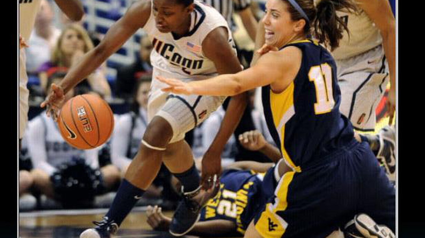 They're touted as a dynasty. One of the greatest teams of any sport, any era. That's women's basketball out of the University of Connecticut, currently on a tear of 72 consecutive unbeaten games. The Lady Huskies won their 16th Big East title last week, whooping West Virginia in a lop-sided score of 60-32. Also last week, #8 in the country Notre Dame went down to UConn by an embarrassing 25. On Sunday the Huskies crushed Syracuse 77-41. The best anybody's done against UConn this season has been the supposedly supreme squad out of Stanford, but the Cardinal's best only brought them to within 12 points of the dominant Huskies...