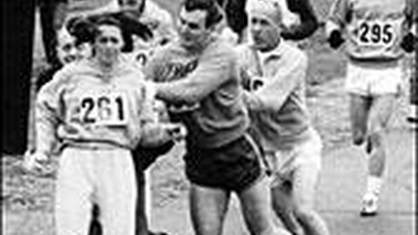 It was forty years ago this week that a woman named Kathrine Switzer put on a baggy pair of sweat pants, an oversized sweat shirt, tied her long hair up under a cap and officially entered herself in the male-only Boston marathon as K.V. Switzer. 1967. The heart of the free-wheeling Bob Dylan. make-love-not-war, women's liberation '60's and yet women were considered too fragile to run the grueling marathon. Empirical tests over the last four decades have proven women to be not only capable of endurance events but even superior to men in  certain aspects of pain tolerance and oxygen management...