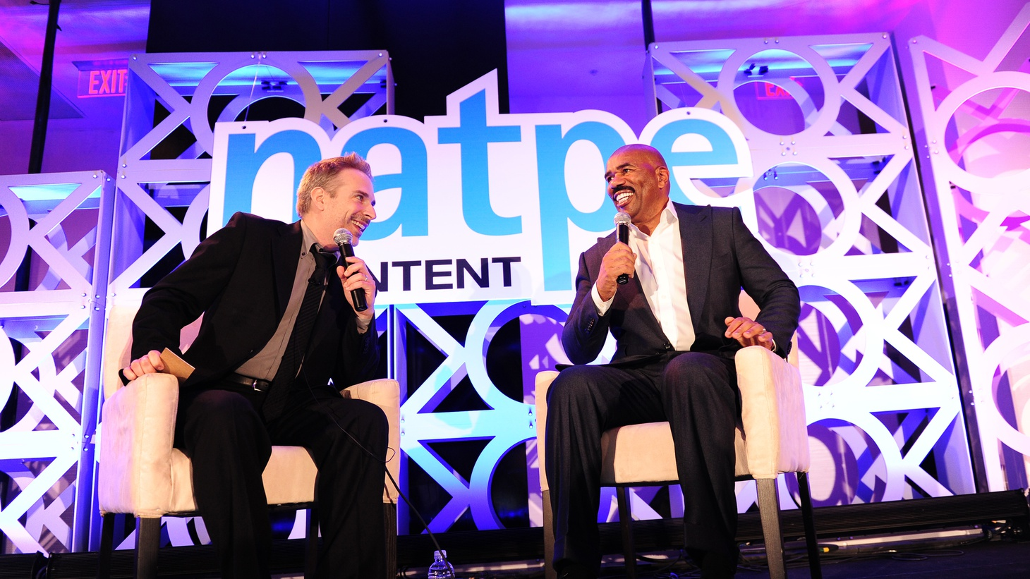 Comedian and Family Feud host Steve Harvey joins Michael Schneider on this special edition of The Spin-Off. The two recently sat down for a wide-ranging conversation at the annual conference of the National Association of Television Program Executives.