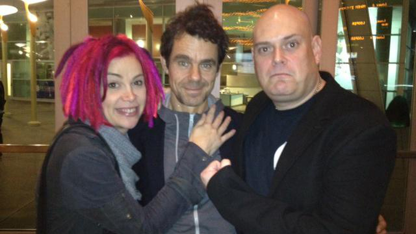 """""""Cloud Atlas"""" filmmakers Andy and Lana Wachowski and Tom Tykwer join Elvis for a live conversation after a screening of the film at ArcLight Hollywood."""