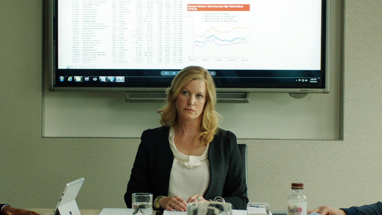 Actress Anna Gunn discusses the struggles and successes of powerful women in the world of investment banking in Equity.
