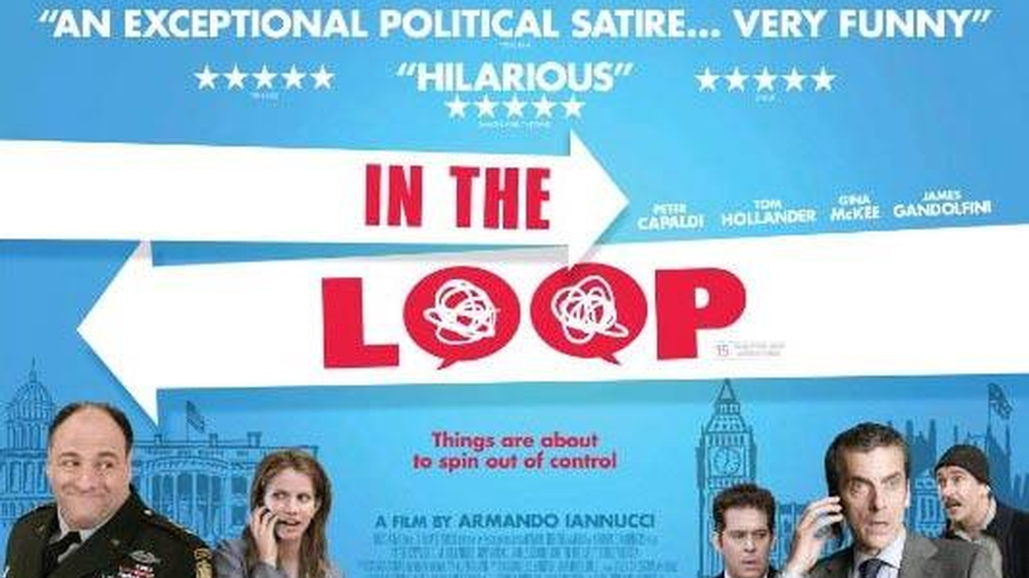 A war in the Middle East may break out. What's more important than saving lives? Saving face, as seen in director Armando Iannucci's briliant satire, In the Loop, which derives from his BBC series, The Thick of It.