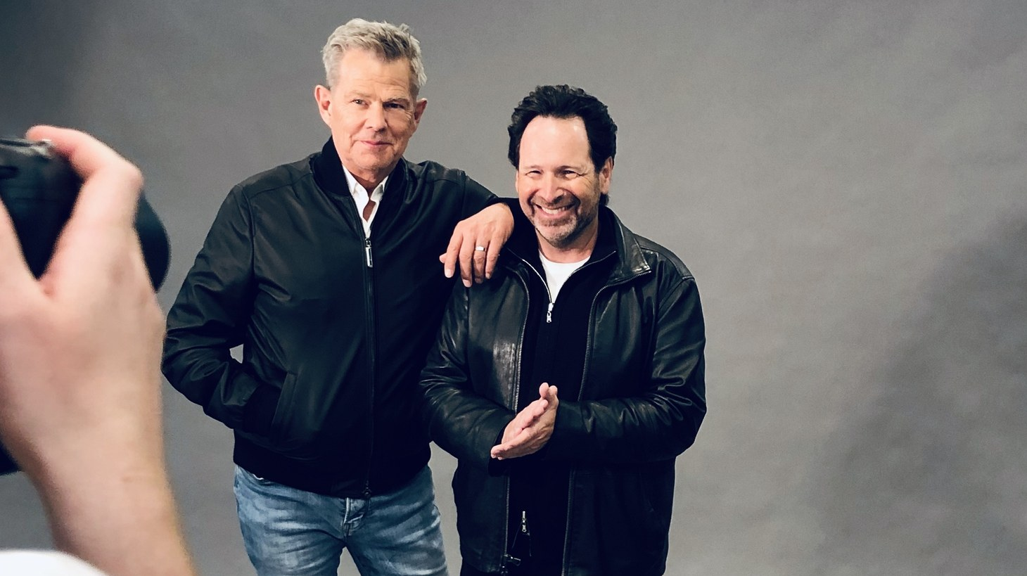 David Foster (left) and Barry Avrich (right).