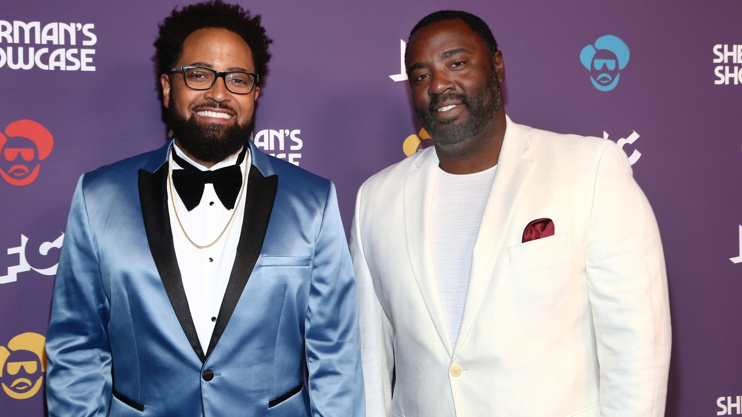 "Diallo Riddle (left) and Bashir Salahuddin (right), creators and stars of Sherman's Showcase. The series' ""Black History Month Spectacular"" airs Friday, June 19th on AMC at 10pm ET/PT and IFC at 11pm ET/PT."