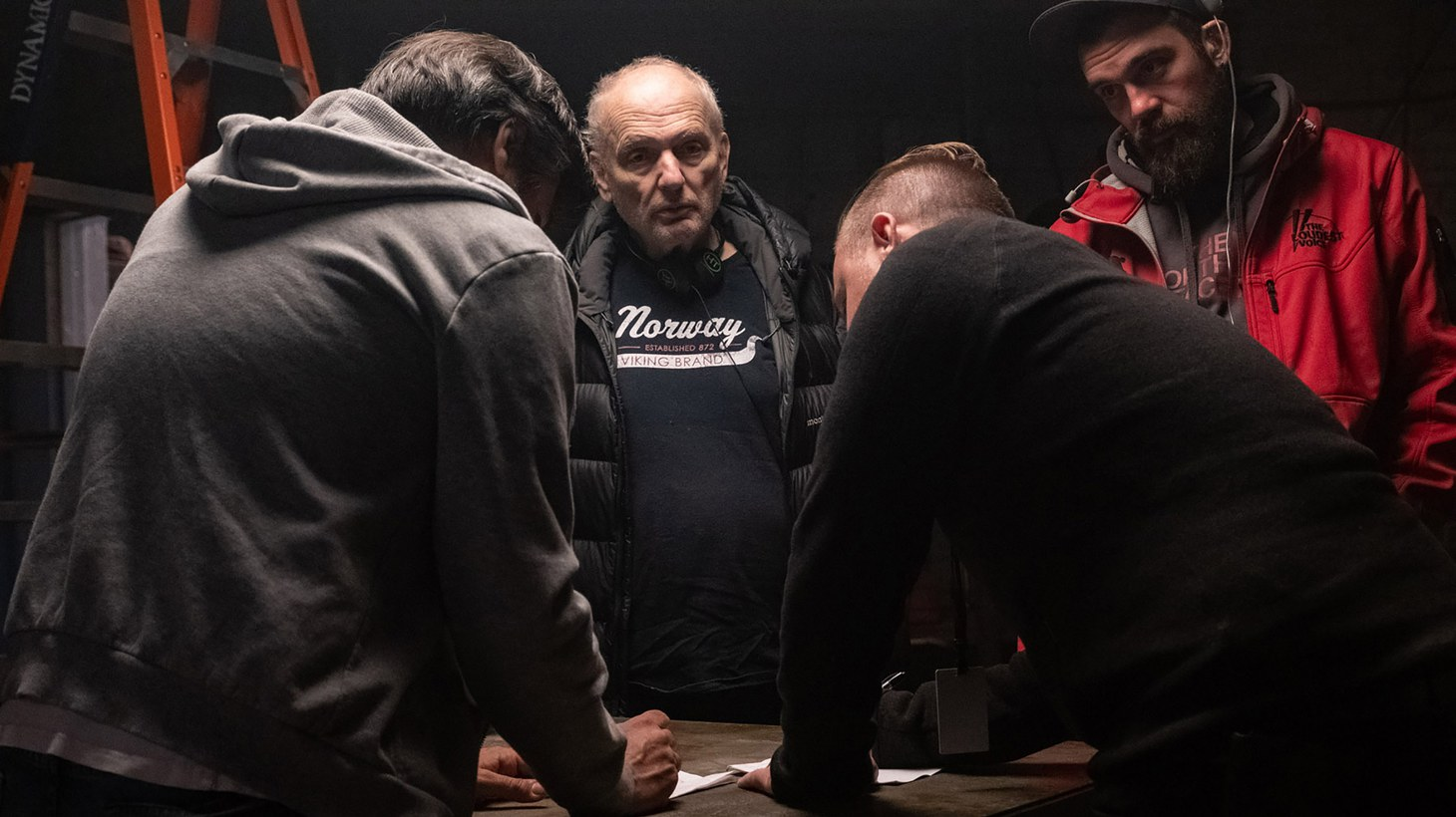 """Creator/writer/producer David Chase on the set of New Line Cinema and Home Box Office's mob drama """"The Many Saints of Newark,"""" a Warner Bros. Pictures release."""