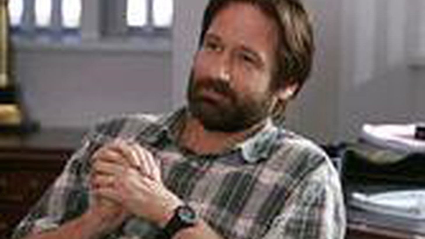 Wry, thoughtful, but not detached,  David Duchovny (House of D, Trust the Man, Bones)  ironic yet emotional approach to acting gave The X-Files a center and  also grounds his satiric new film, The TV set.
