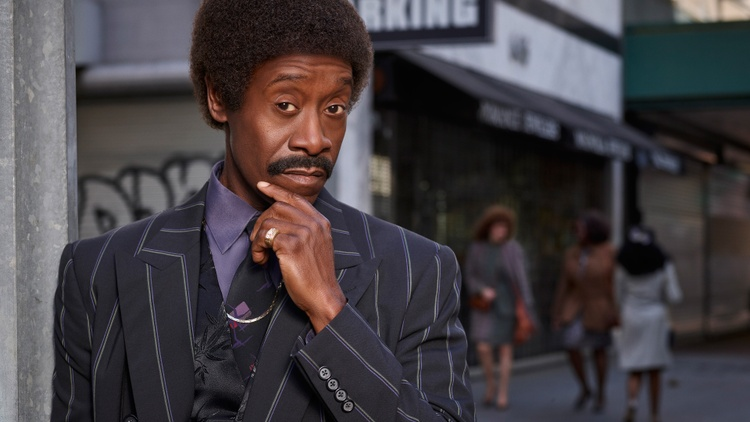 "Actor Don Cheadle discusses a 1987 perspective in ""Black Monday""."