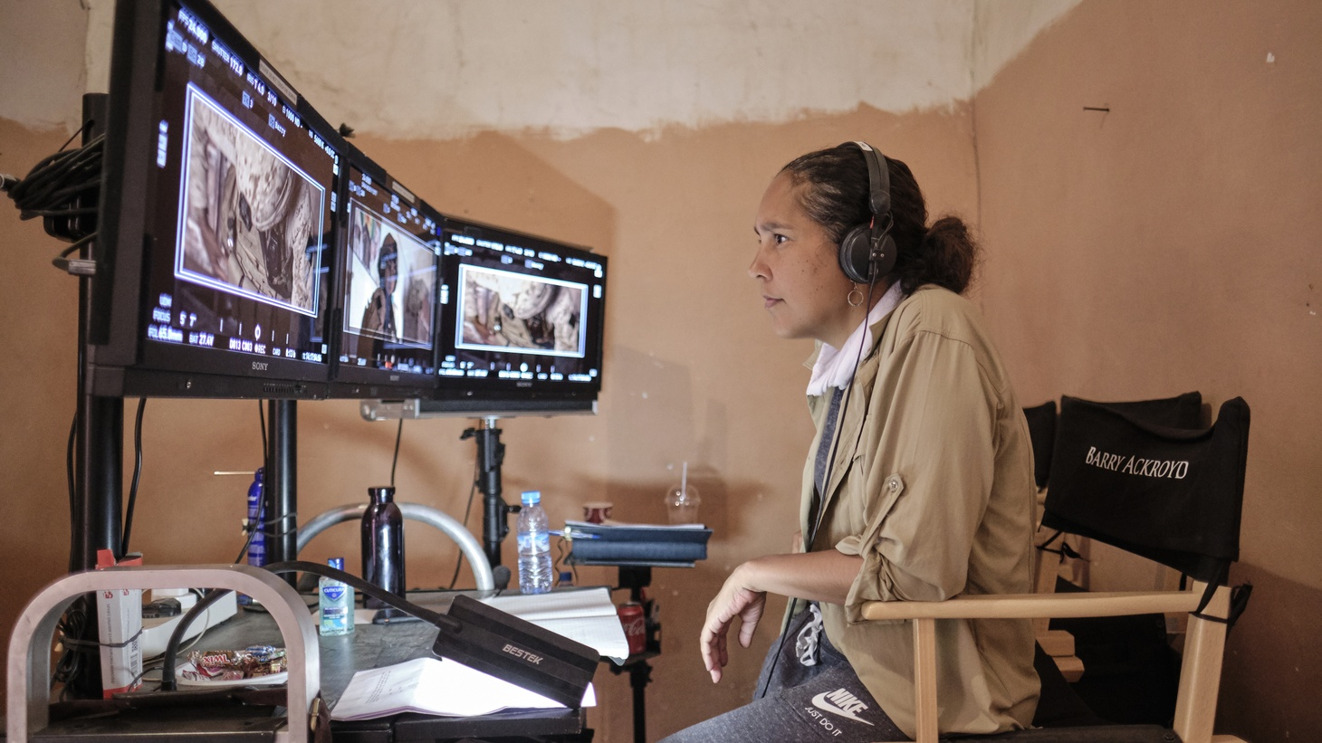 Gina Prince-Bythewood on set of The Old Guard.
