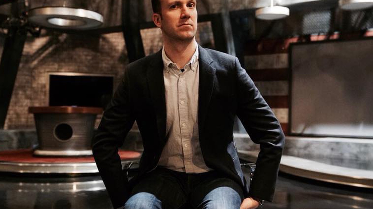 """Political comedian Jordan Klepper explores himself as a character while hosting """"The Opposition."""""""
