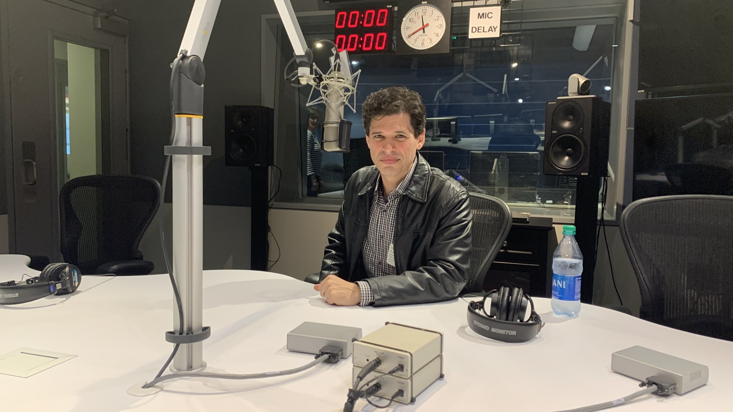 Max Brooks in KCRW studios.