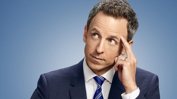 "Comedian Seth Meyers talks journey from ""Weekend Update"" to daily update in ""Late Night with Seth Meyers""."