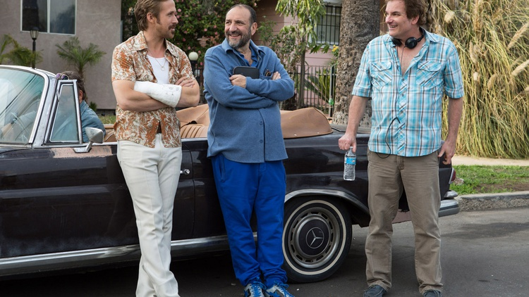 "After 13 years of various attempts at telling the ""nice guys"" story, director Shane Black joins Elvis Mitchell to talk about finding the right medium for the buddy cop film The Nice…"