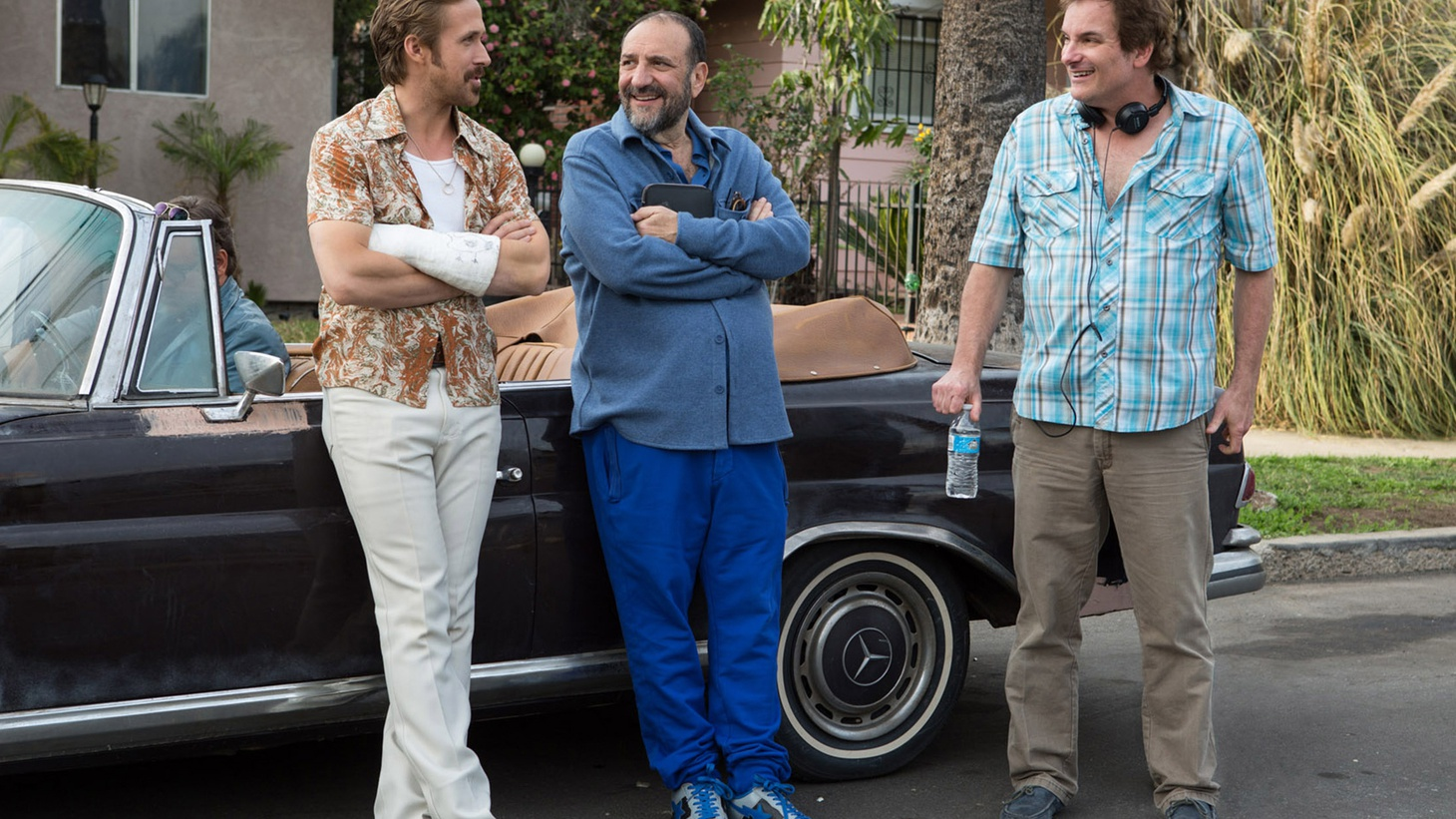 """After 13 years of various attempts at telling the """"nice guys"""" story, director Shane Black joins Elvis Mitchell to talk about finding the right medium for the buddy cop film The Nice Guys."""