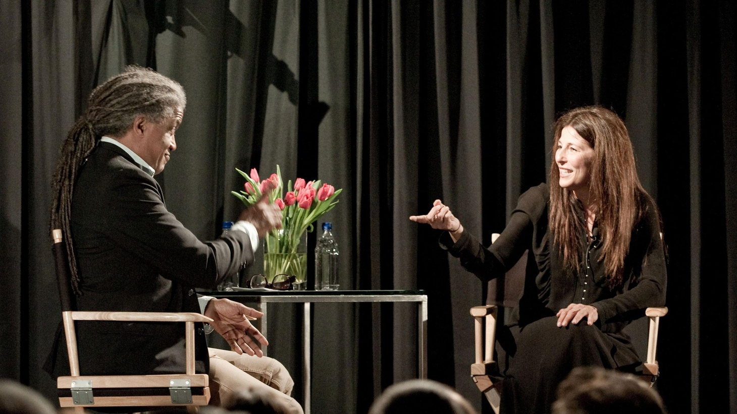 """KCRW and public radio network NPR have launched an exclusive online collaboration, UpClose. In the first of many conversations with some of the leading figures in popular culture, Elvis Mitchell and indie-favorite actress Catherine Keener engaged in an open-ended and unscripted conversation about her career. Mitchell notes that he's a big fan of Keener's """"insinuating and expressive laugh."""""""