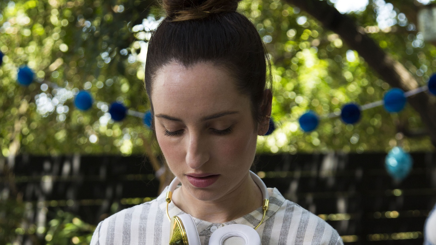 """Actress and director Zoe Lister-Jones discusses the energy on set with an all female crew behind her film """"Band Aid""""."""