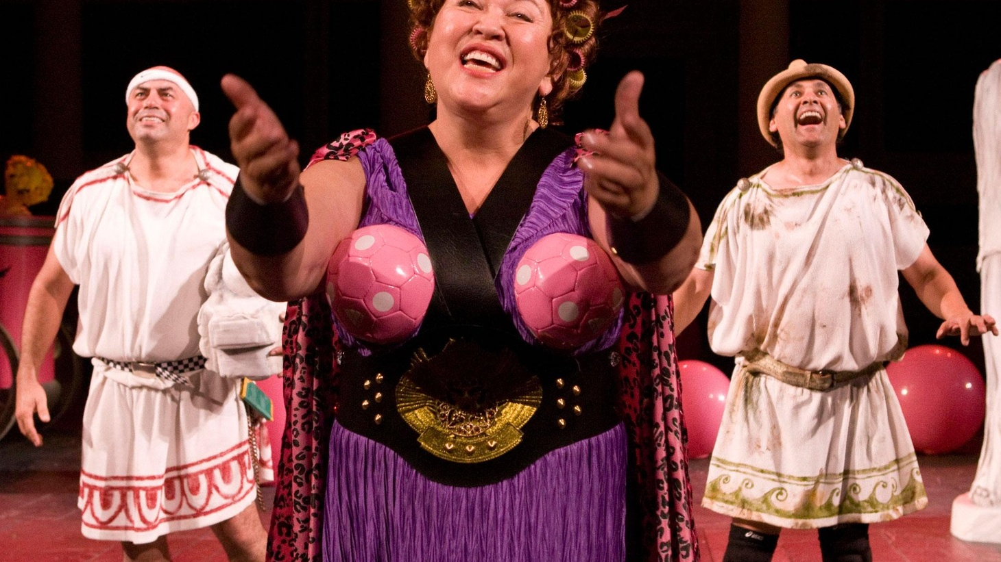 A simple, joyous belief in theater as entertainment radiates from two productions currently playing here on the west coast. The first is the annual production of a Greek classic at the Getty Villa's outdoor amphitheater...