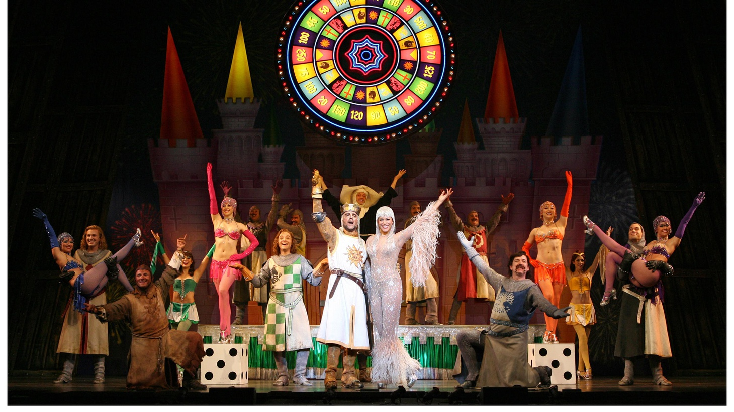 """That's the song, """"Always Look on the Bright Side of Life,"""" from the musical Spamalot.  Of course, die-hard Monty Python fans will tell you that song originally came from the 1979 movie Life of Brian — but then very little that's in Spamalot is original.  The full title of this show, which won the 2005 Tony Award for Best Musical, is Monty Python's Spamalot: A New Musical lovingly ripped off from the motion picture Monty Python and the Holy Grail..."""
