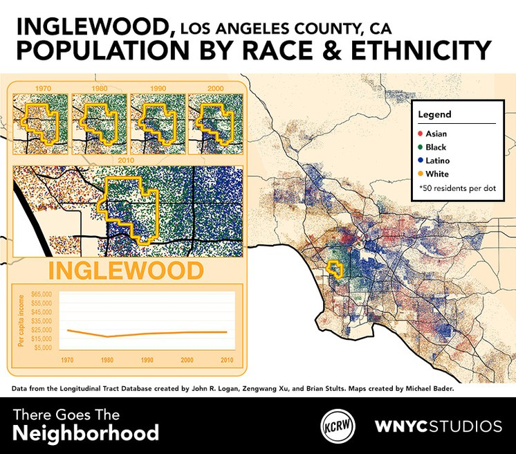 Inglewood map graphic