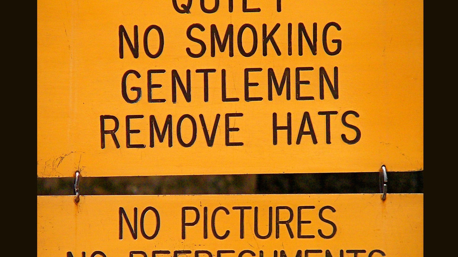 Perhaps there was a time when the rules of polite society were clear. No longer.