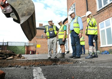 Removing the tarmac (3). Credit - University of Leicester.JPG