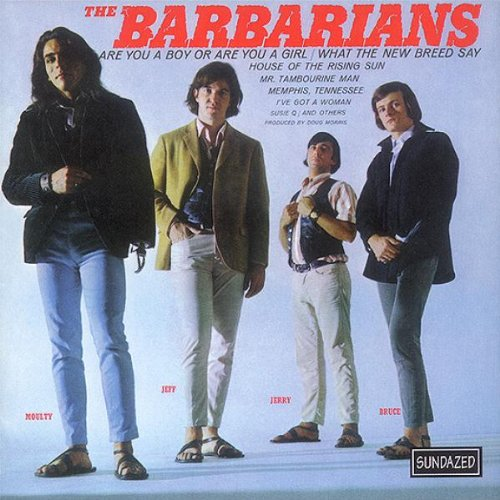 Moulty (left) on the cover of The Barbarians LP