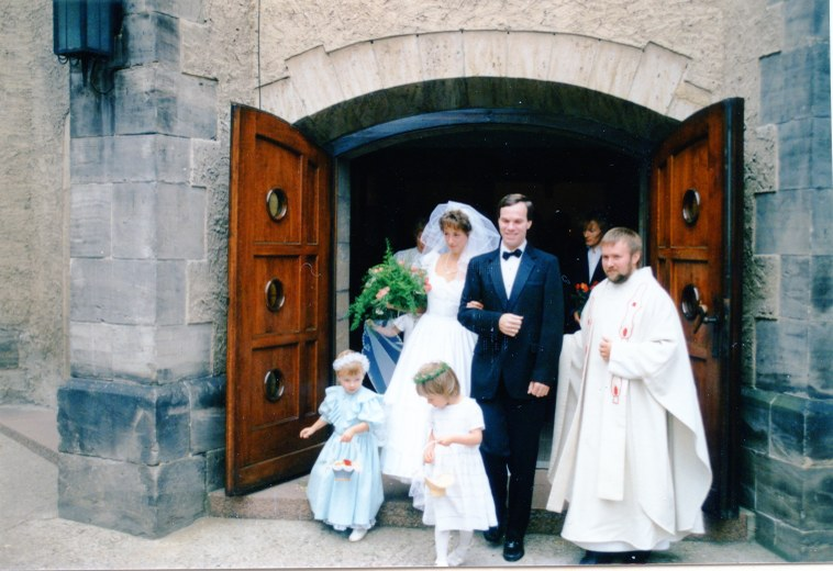 Mark and Gabriele's wedding in 1989