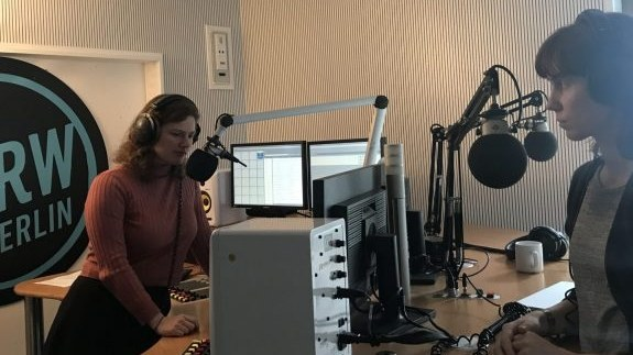Host Sylvia Cunningham and Kate Cahoon in studio.