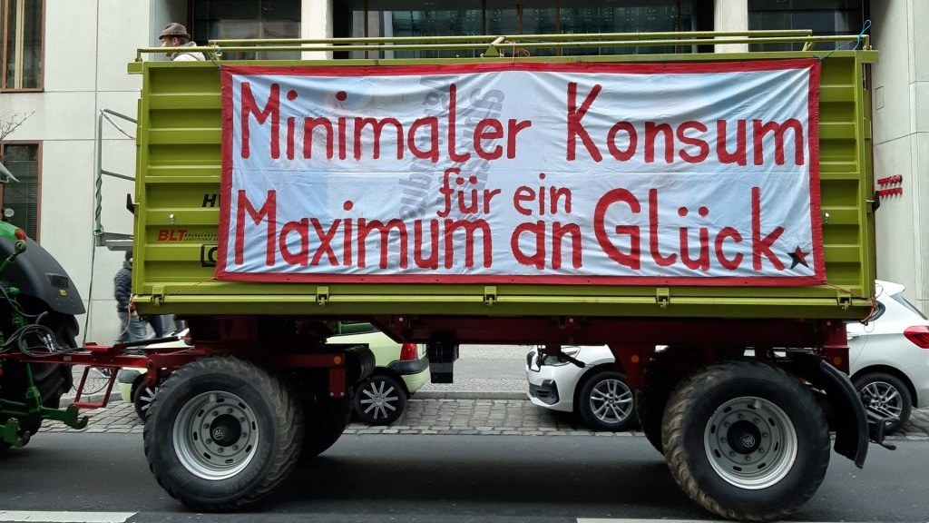 A sign from Germany's recent farmer's protest.