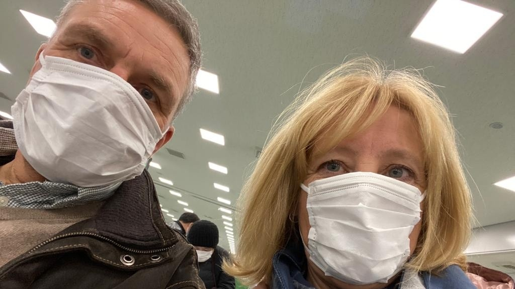 This photo was taken in January, when German business economist Klaus Warmedinger and his wife returned from their Japan vacation to their home in China, landing in the middle of a rapidly developing health crisis.