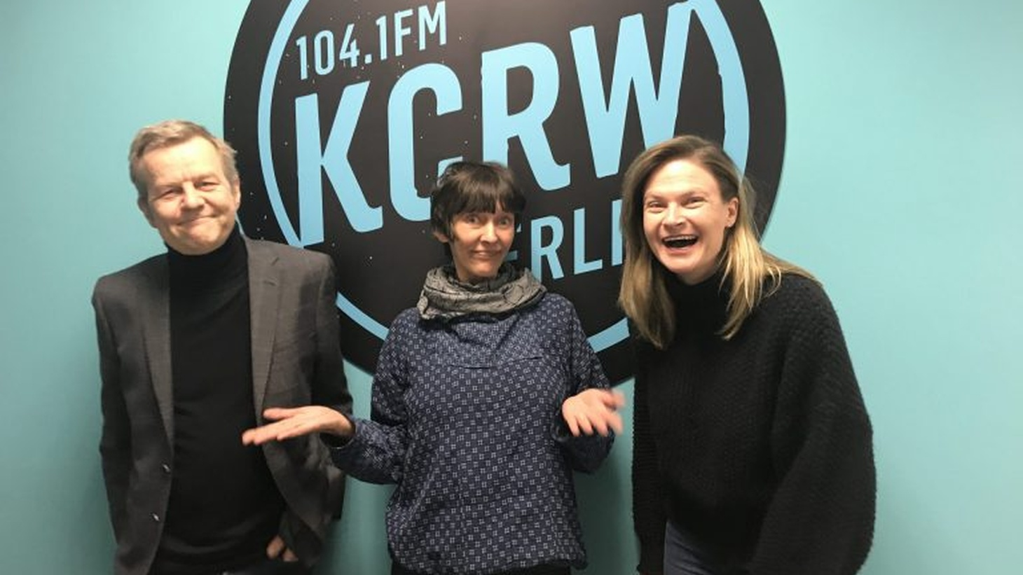 Monika Müller-Kroll with Tom Dorow and Meredith Burkholder.