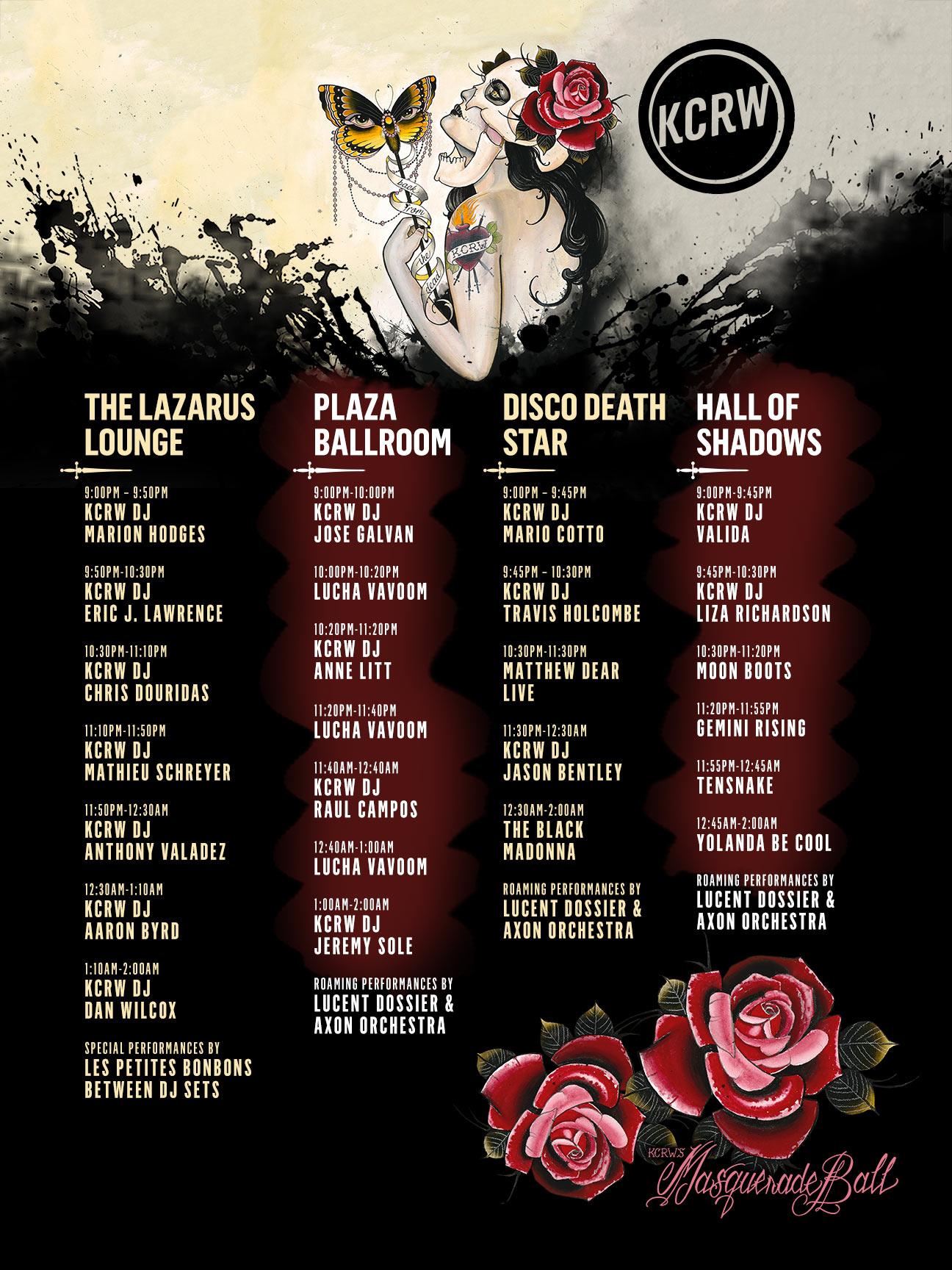 KCRW's Masquerade Ball 2017 Schedule