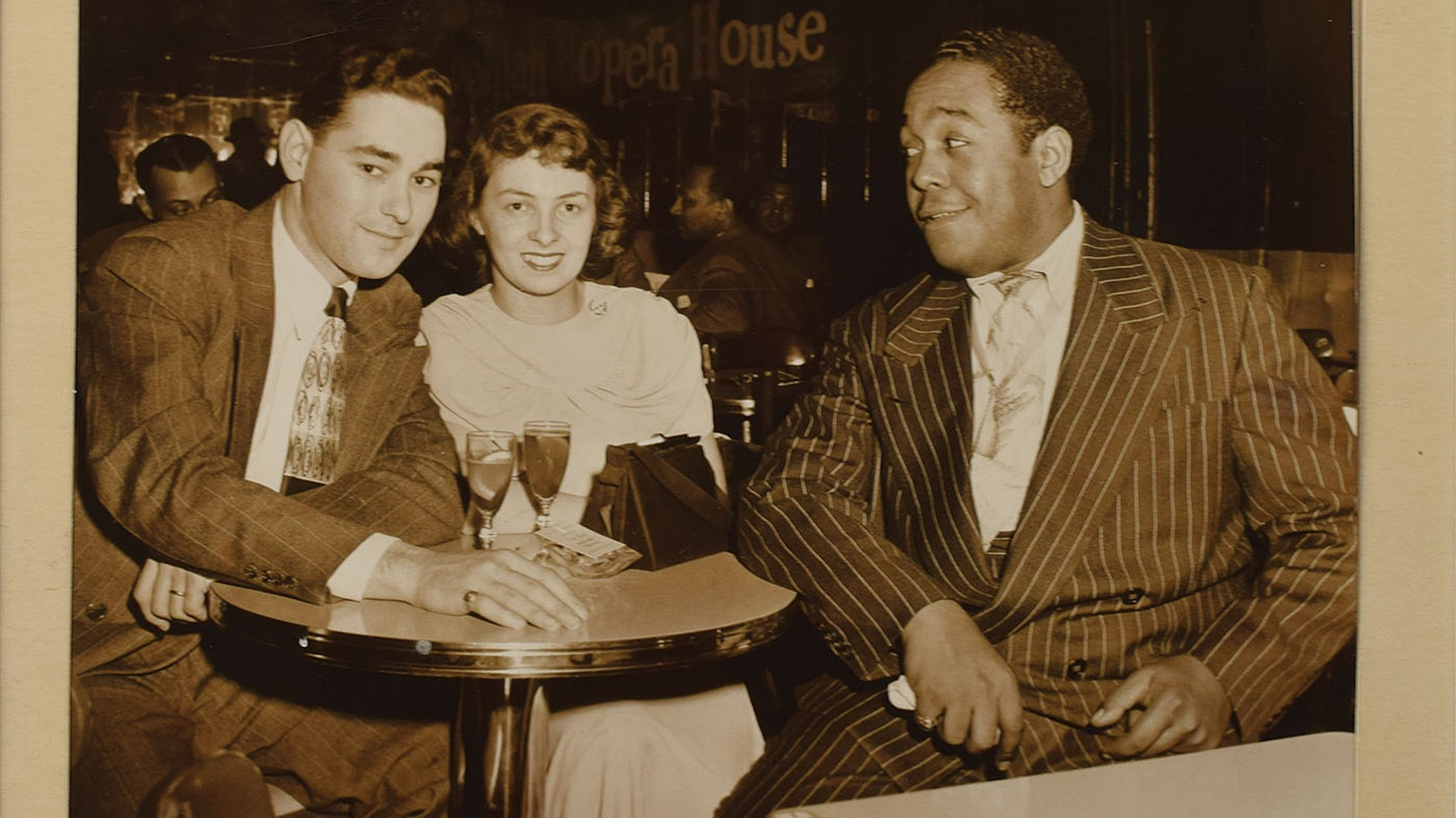 From Sittin' In: Jazz Clubs of the 1940's and 1950's: Charlie Parker with fans at the Royal Roost, NYC, 1948